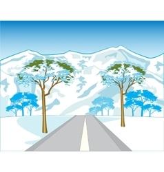 Road in mountain vector