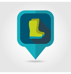 Rubber boots gumboots wellies pin map icon vector image
