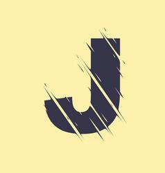 scribbled letter j vector image