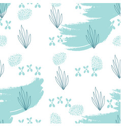 Seafood hand drawn seamless pattern vector