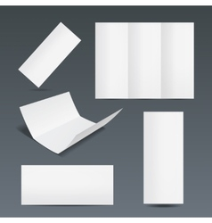 Set templates for a leaflet or flyer vector