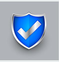 shield icon with check mark symbol design vector image