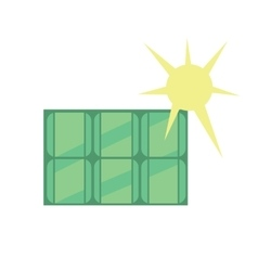 Solar panel Eco icon vector image