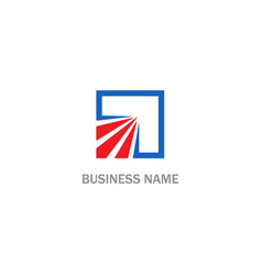 square arrow abstract business logo vector image