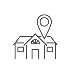 Stay home related thin line icon vector