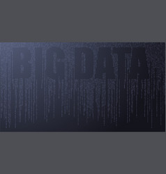 text big data concept design of signal vector image