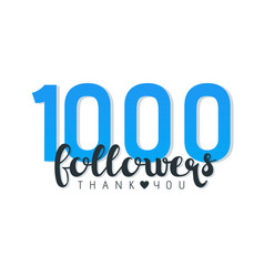 thousand followers banner vector image