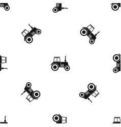 tractor pattern seamless black vector image