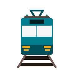 train frowntview symbol vector image