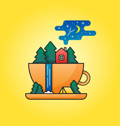 Travel in cup vector