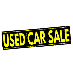 Used cars sale stamp vector