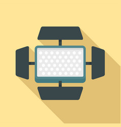 video camera flash icon flat style vector image