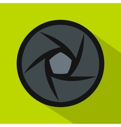 Video objective icon flat style vector