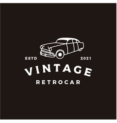 Vintage retro car logo design or classic vector