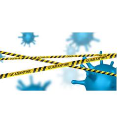 Warning coronavirus quarantine banner vector