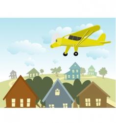 birds eye view vector image