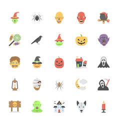 flat icons halloween set vector image