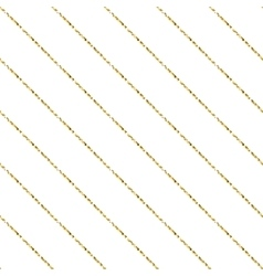 Gold foil glitter line stripes seamless pattern vector image vector image