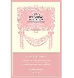 Vintage background wedding invitation vector image vector image