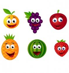fruits cartoon vector image vector image