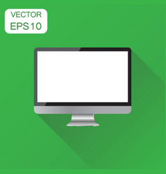 Realistic desktop computer monitor icon business vector