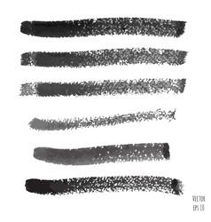 set of dark black watercolor vector image
