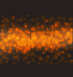 abstract orange bokeh light night background vector image vector image