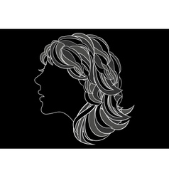 Abstract womans profile vector image