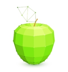 Geometric Green Apple vector image vector image