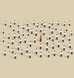 stand out from the crowd leadership different vector image