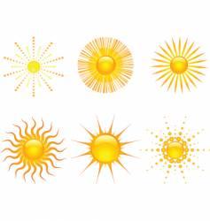 Sun icons set vector