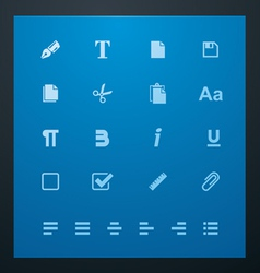 universal glyphs 6 text editing vector image vector image