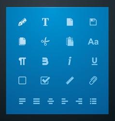universal glyphs 6 text editing vector image