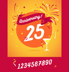 anniversary happy holiday festive celebration vector image vector image