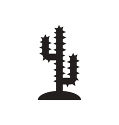 black icon on white background cactus sign vector image