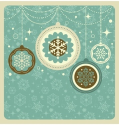christmas background with retro pattern vector image vector image
