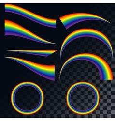 Rainbows icons set EPS 10 vector image
