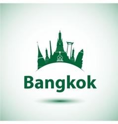 silhouette of Bangkok Thailand vector image vector image