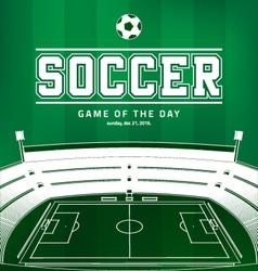 Soccer Football Poster vector image vector image