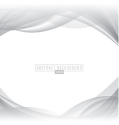 white abstract wave background vector image