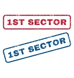 1st Sector Rubber Stamps vector