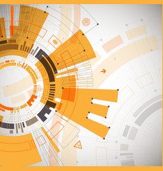 abstract orange colored technological background vector image