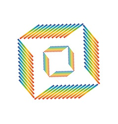 Abstract rainbow pattern vector