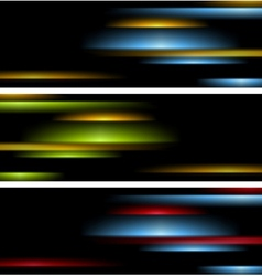 Abstract tech striped banners vector image