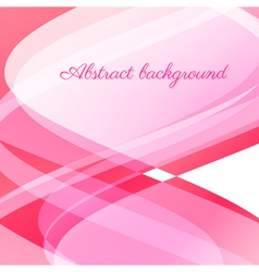 Abstract wavy background in pink vector