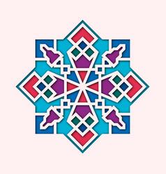 Arabesque arabic vignette orient colorful vector