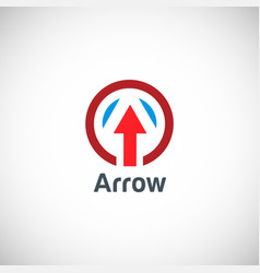 arrow up logo vector image