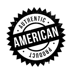 Authentic american product stamp vector image