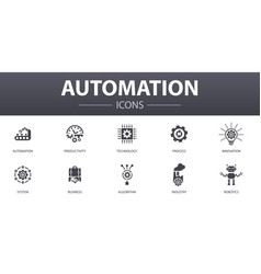 Automation simple concept icons set contains such vector