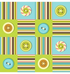 background with sewing buttons vector image